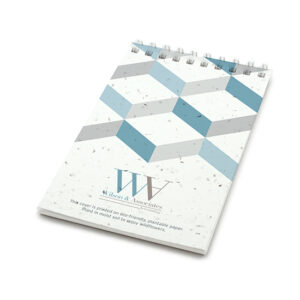 3D Chevron Coil Bound Personalized Plantable Pocket Notepads