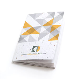 Geometric Personalized Plantable Pocket Notebooks