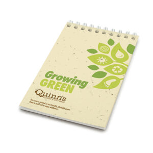 Growing Green Coil Bound Personalized Plantable Pocket Notepads