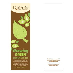 Growing Green Eco Bookmarks With Shape