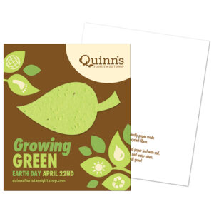 Growing Green Plantable Leaf Corporate Flat Cards