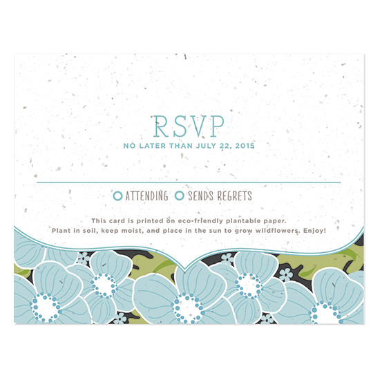 Ornate Floral Plantable Reply Cards