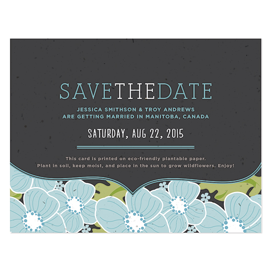 Ornate Floral Plantable Save The Date Cards