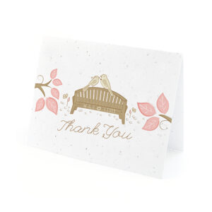 Park Birds Plantable Thank You Cards