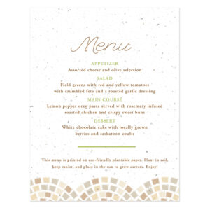 Park Birds Plantable Menu Cards