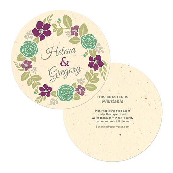 Floral Wreath Coasters