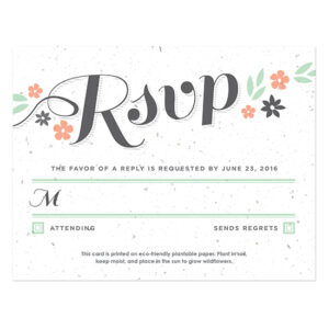 Secret Garden Plantable Reply Cards