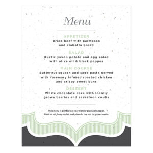 Sweet Vintage Plantable Menu Cards
