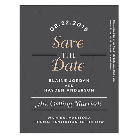 Sweet Vintage Plantable Save The Date Cards