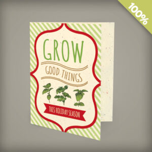 Grow Good Things Corporate Holiday Cards