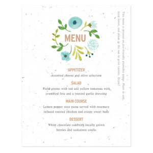 Painterly Florals Plantable Menu Cards