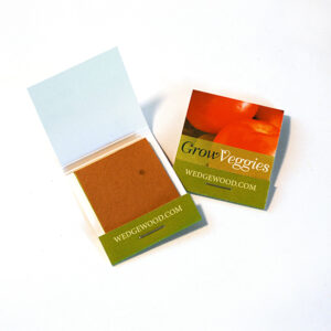 Small Veggie Seed Paper Matchbooks, Single-Sided