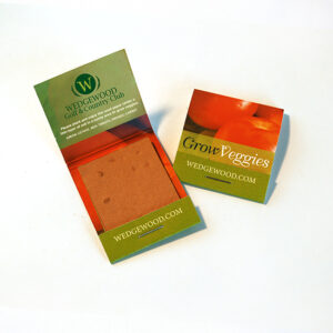 Small Veggie Seed Paper Matchbooks, Double-Sided
