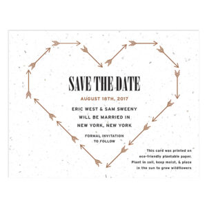 Cupid's Arrow Plantable Save The Date Cards