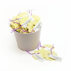 Bucket of Love green baby shower favors