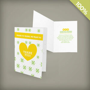 Small plantable seed cards