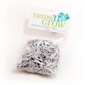 This Throw 'n Grow Plantable Seed Paper Confetti grows wildflowers when planted!
