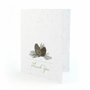 Pinecone plantable thank you cards