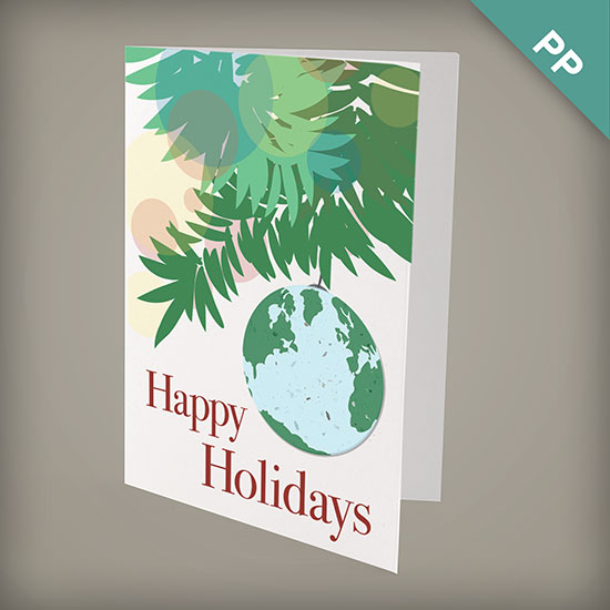 Plantable Earth Personalized Christmas Cards