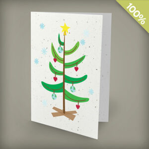 Love the Earth plantable personalized christmas cards