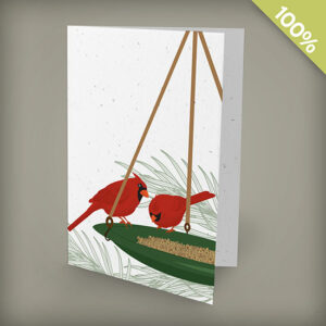 Cardinals plantable personalized christmas cards