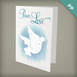 Dove plantable personalized christmas cards
