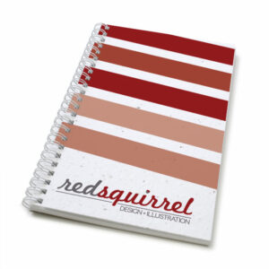 Striped personalized plantable journal: standard