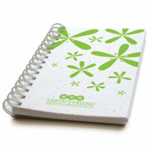 Modern floral personalized plantable journals: premium