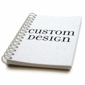 Custom design personalized plantable journal: premium