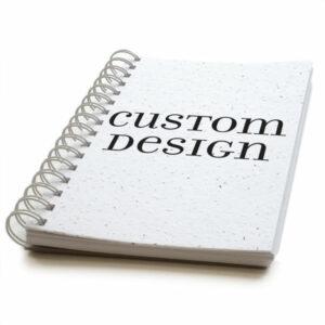 Custom design personalized plantable journal: premium