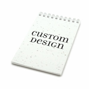 Custom design coil bound personalized plantable pocket notepads