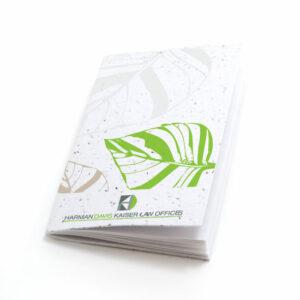 Fluttering leaf personalized plantable pocket notebooks
