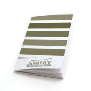 Striped personalized plantable pocket notebooks
