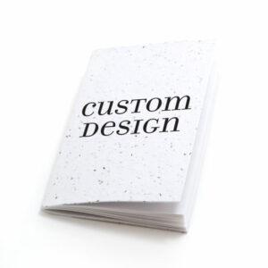 Custom design personalized plantable pocket notebooks