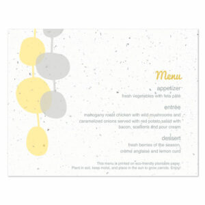 Retro Lanterns plantable menu cards