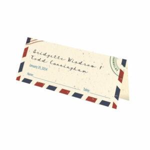 Plantable passport place cards