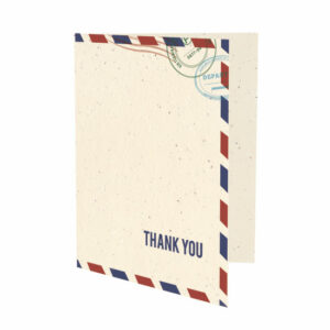 Plantable passport thank you cards