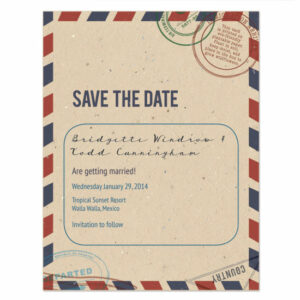 plantable passport save the date cards
