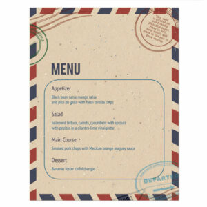 Plantable passport menu cards