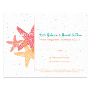 Plantable starfish reply cards