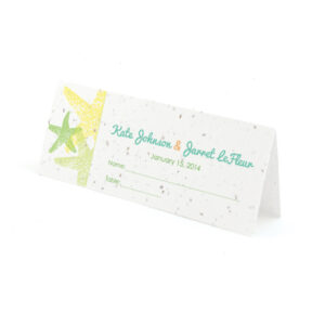 Plantable starfish place cards