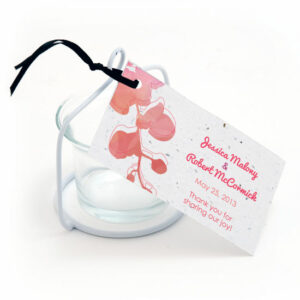 Plantable watercolor orchids favor tags