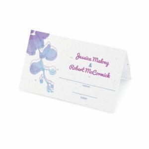 Plantable watercolor orchids place cards
