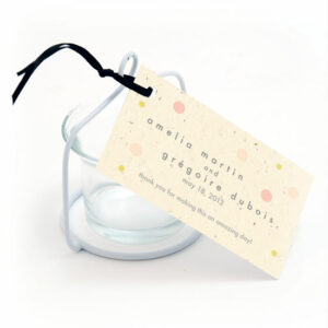 Plantable polka dots favor tags