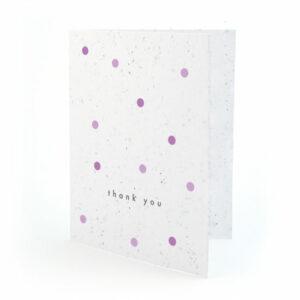 Plantable polka dots thank you cards