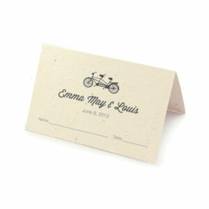 Plantable Tandem Bicycle Place Cards