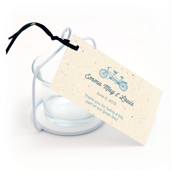 Plantable Tandem Bicycle Favor Tags