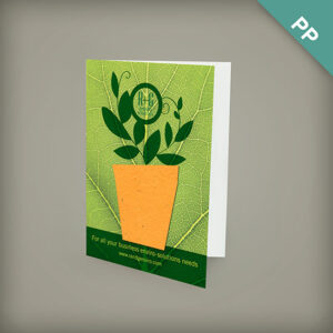 Small eco greeting cards with shape