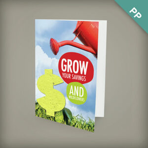 Medium eco greeting cards with shape