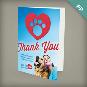 Large eco greeting cards with shape